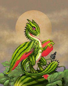 Watermelon Dragon by SMorrisonArt on DeviantArt