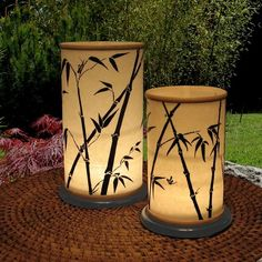 Candle lanterns.good for centerpieces