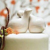 Porcelain Love Birds Wedding Cake Topper $38.98 #CakeTopper