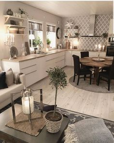 26 Best Farmhouse Kitchen Design Ideas To Bring Classic Look ~ House Design Ideas Best Kitchen Cabinets, Kitchen Cabinet Design, Interior Design Living Room, Kitchen Island, Modern Farmhouse Kitchens, Home Kitchens, Kitchen Modern, Farmhouse Ideas, Farmhouse Style