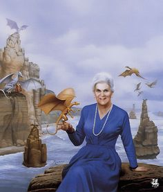 Anne McCaffrey - was an American-born Irish writer, best known for the Dragonriders of Pern fantasy series. Early in McCaffrey's 46-year career as a writer, she became the first woman to win a Hugo Award for fiction and the first to win a Nebula Award. Her 1978 novel The White Dragon became one of the first science-fiction books to appear on the New York Times Best Seller list.