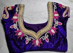 blouse neck designs with stone work - Google Search