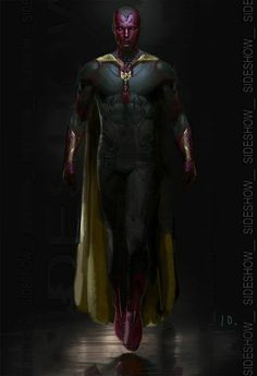 """Images for : """"Avengers: Age of Ultron"""" Concept Art Details The Vision's Look - Comic Book Resources Marvel Avengers, Marvel Dc Comics, Films Marvel, Marvel Fan, Marvel Heroes, Comic Movies, Comic Book Characters, Comic Book Heroes, Marvel Characters"""
