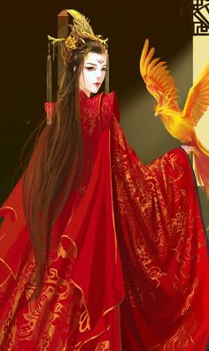 Volume 3 Ying Si, the red rose, the phoenix Ancient Beauty, Ancient Art, Chinese Picture, Digital Art Tutorial, China Art, Gal Meets Glam, Fantasy Girl, Fantasy Artwork, Anime Art Girl