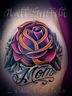 Matt Griffith 2 Dollar Pistol Tattoo Shop  #Rose # Tattoo #Design # Matt Griffith https://www.facebook.com/pages/2-Dollar-Pistol-Tattoo-Shop/109602399072346