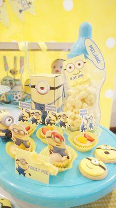 Despicable Me Party via Kara's Party Ideas | Kara'sPartyIdeas.com #DespicableMe #PartyIdeas #MovieParty #Supplies (4) | Kara's Party Ideas