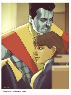 Great Candid Superhero Moments from Artist Phil Noto - These are fantastic! Especially love this one of Kitty and Colossus, one of my favorite couples.