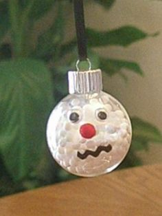 Set of Six Snow Man Ornaments by kimd2011 on Etsy