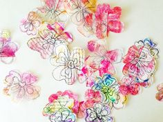 If you are part of The Documented Life Project, you know it is no secret that my pal and team mate, Sandi, started a craze with these deli paper flowers. I know I made dozens myself. I add them on my planner pages, to happy mail and to my art journal pages.