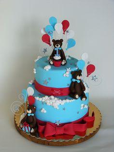 Bears and balloons cake by bubolinkata, via Flickr
