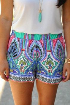 Cute Colorful Shorts For Ladies