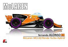 Fernando Alonso in the McLaren Sport Cars, Race Cars, Fernando Alonso Mclaren, Honda, Gp F1, Car Prints, Formula 1 Car, Mclaren F1, Ferrari F1