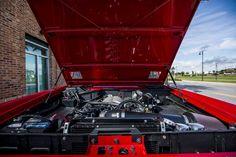 Engine bay of the 1972 Classic Ford Bronco restoration. #coyote #coyoteswap #wilwood #vintageair #bfgoodrich #classicfordbronco #classicbronco #earlybronco #vintagebronco #earlyfordbroncos #fordbronco #ford #bronco #fordsofinstagram #earlybroncodrivers #fordtruck #fordracing #4x4 #shoplife #broncolife #broncosport #Pensacola #velocityrestorations @wilwooddiscbrakes @vintageair_ @bfgoodrichtires