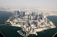 Downtown Doha from Airplane (I've only ever been in the airport so this is right) (May & December 2009)