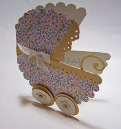 Scallop Circle Die makes an adorable Baby Carriage - Stamp Up a Storm