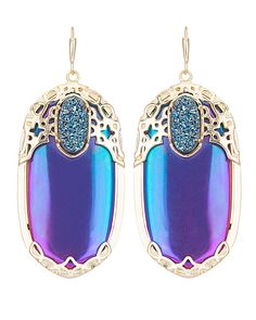 Deva Statement Earrings in Iridescent Illusion - Kendra Scott Jewelry. Coming July 16!