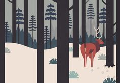 Yeti Winter - Owen Davey Illustration