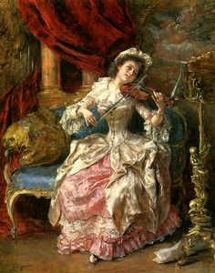A Musical Afternoon (c. late 1800's) by Eduardo Leon Garrido
