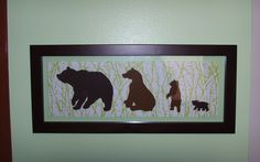 bear silhouettes representing our family for new baby bear's room :)