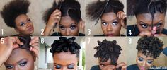 How to: Bantu Knot Tutorial on a Tapered Cut - Lisa a la mode