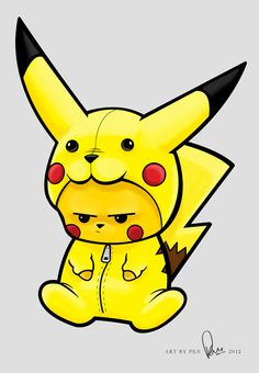 Pikachu dressed as Pikachu
