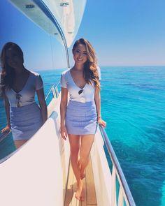 "Jessica Ricks ""Sooo excited to be heading back to Florida soon 💕💕💕 I'm ready for some ☀️👙🕶 Jessica Ricks, Hot Pants, Look Fashion, New Fashion, Fashion Beauty, Yacht Fashion, Hapa Time, Sexy Women, Women Wear"
