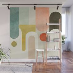 If you've been longing to make a statement in your home, you will be pleased to know that there are loads of gorgeous wall mural ideas to choose from....   Abstract Pastel Wall Mural #WallMurals #WallDecor #Murals #WallMuralIdeas #WallMural #Mural Pastel Walls, Kids Wall Murals, Striped Walls, Pink Marble, Geometric Wall, Fabric Panels, Pink Clouds, Living Room Interior, Wall Tapestry