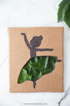 Cardboard Ballerina Cutout Craft Ballerina Silhouette, Ballerina Art, Silhouette Art, Easy Crafts For Kids, Toddler Crafts, Kid Crafts, Heavy Duty Scissors, Simple Girl, Beautiful Flowers