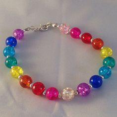 Rainbow bracelet beaded bracelet multi by BrowniesCRAFTBOX on Etsy