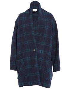 Isabel Marant Etoile Gabrie checkered wool jacket