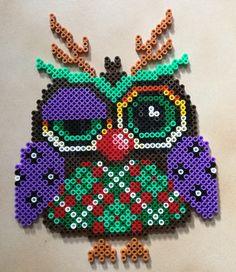 Christmas owl hama perler beads by Hamadeco