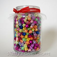 Jar Of Wishes Rainbow Origami Paper Lucky Stars In Recycled Glass