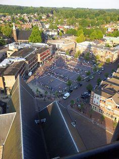 Foto vanaf de kerktoren, gemaakt door de Wandel4daagse