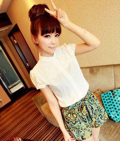[qz058] เสื้อผ้า Pre Order เสื้อแฟชั่นเกาหลี ผ้าฝ้าย   SoMoreMore.Com