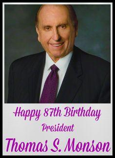 Herzlichen Glückwunsch zum siebenundachtzigsten Geburtstag, Präsident Thomas S. Monson!