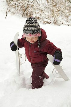 I have one real deal skier (older kid) and one snow enthusiast (younger kid) which is a start, right? Here's what I learned about taking kids skiing for the first time I Love Snow, I Love Winter, Winter Fun, Winter Sports, Winter Snow, Winter Time, Winter Season, Winter Hats, Snow Fun