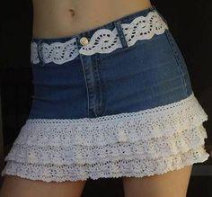 Vyrob  si  sukňu zo  starých  riflí.