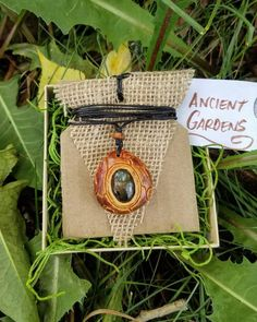 Labradorite Necklace Carved Avocado Stone Labradorite Stone | Etsy
