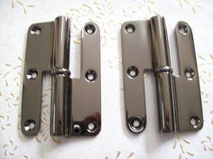 Italy vintage hinges gun brass for interior doors of excellent