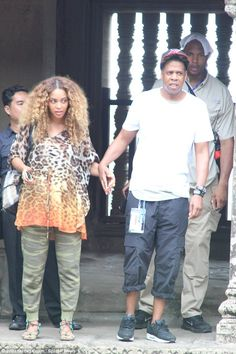 Around the world: Beyonce and Jay Z held hands as they paid a trip to Cambodia's historic ...