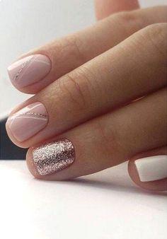 Semi-permanent varnish, false nails, patches: which manicure to choose? - My Nails Elegant Nail Designs, Elegant Nails, Nail Art Designs, Stripe Nail Designs, Cute Acrylic Nails, Cute Nails, Pretty Nails, Shellac Nails, My Nails