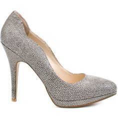 Boutique 9 Women's Carly - Grey ($62) ❤ liked on Polyvore featuring shoes, pumps, heels, grey, high heel platform pumps, high heel court shoes, grey high heel pumps, grey heeled shoes and platform pumps