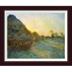 Global Gallery Haystacks, 1891 by Claude Monet Framed Painting Print Size: