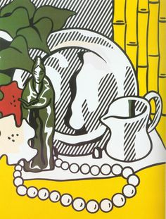 Roy Lichtenstein 1974 still-life with figure lithograph and screenprint on paper 119x96cm