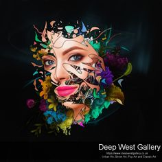 Unique, high-end fineart abstract photo manipulation of a female portrait. Exclusive C-Type Print facemounted on crystal clear acrylic glass. Abstract Portrait, Office Art, Conceptual Art, Female Portrait, Urban Art, Buy Art, Photo Art, Cool Art, Contemporary Art