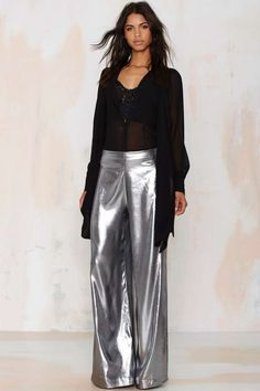 Nasty Gal Liquid Courage Wide Leg Pants   Shop Clothes at Nasty Gal!