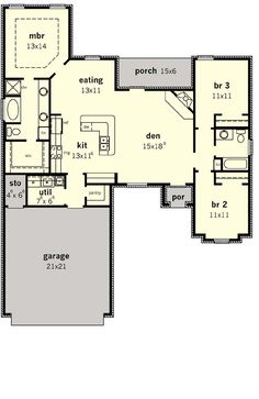 I would bump out den/living even with eating area and bedroom three to make it a home to accommodate more for parties and dinners.