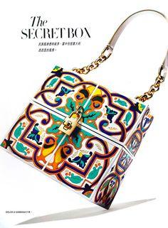 dolce & Gabbana spring 2015 handbags | ... Wood Majolica Inspiration Box Bag, Dolce &Gabbana Spring Summer 2015