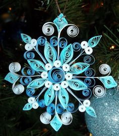 Paper Quilled snowflake ornament *Original Design*