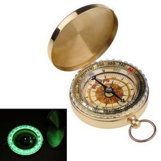 2.12$  Buy here - Outdoor Portable Brass Pocket Golden Compass Navigation   #buychinaproducts